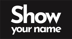 Show your name