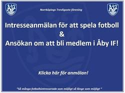 Intresseanmälan & Bli Medlem i Åby IF