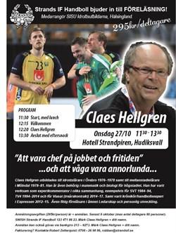 Föreläsning med Claes Hellgren